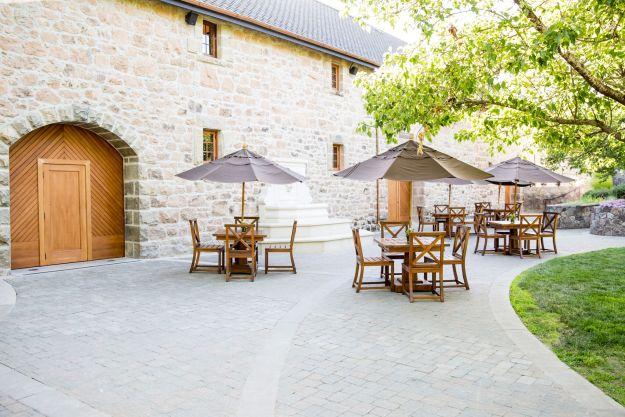 Freemark Abbey Courtyard - Photo Credit: Freemark Abbey