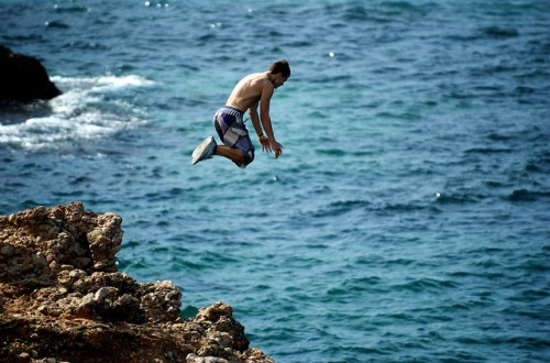 Cliff Jumping sport - photo by John O'Nolan