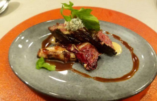 The Restaurant at CIA Copia - hanger steak close up - Credit: Deborah Grossman