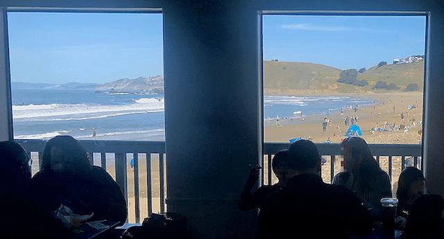 Ocean View inside Taco Bell