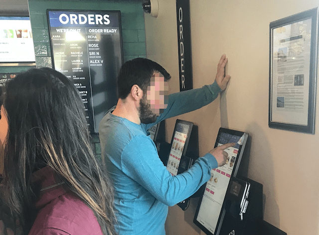 Touch-screen Terminal at Taco Bell