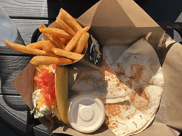 Nachos Fries, Taco Supreme and Chicken Quesadilla