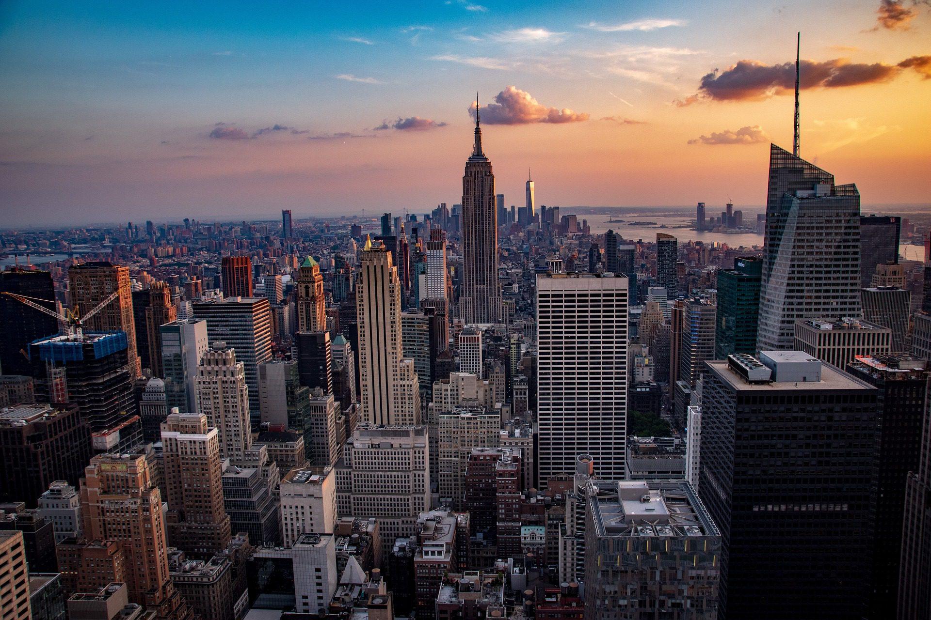 Manhattan Skyline at night, NYC