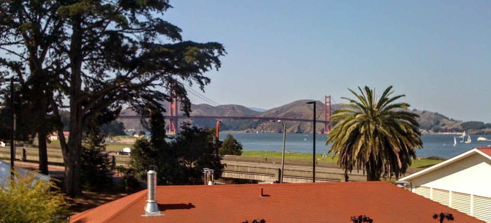 View from The Walt Disney Family Museum, Presidio, SF
