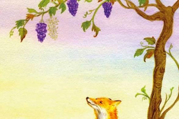La volpe e l'uva favole di Fedro