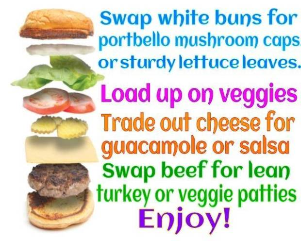 build a healthy burger for 4th of July, memorial work, labor day