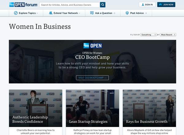 OPEN Forum - Serie mujeres en los negocios