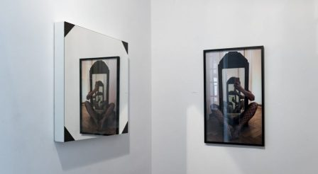 Zofia Krawiec, widok na instalację z wystawy, fot. Bartek Górka, galeria lokal_30