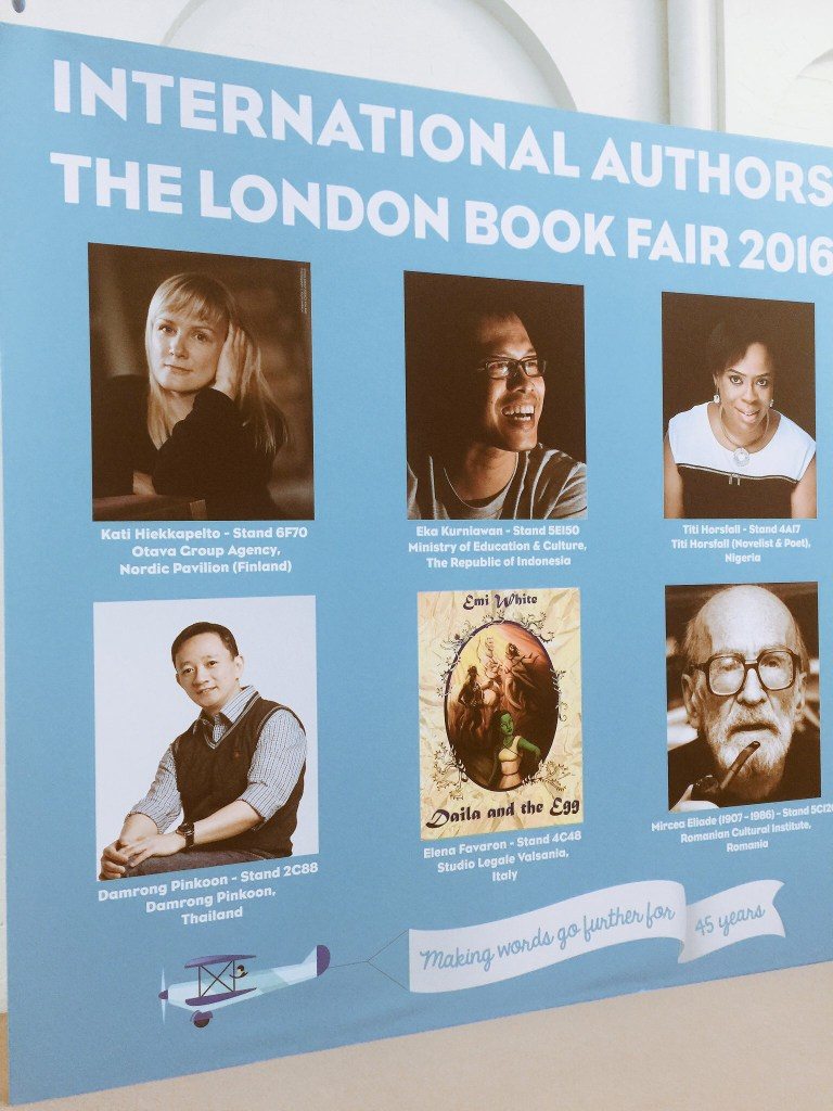 2016 London Book Fair Wall art promoting the book fair