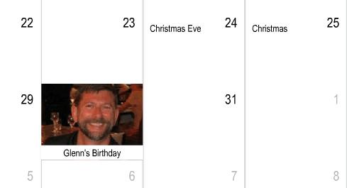 Birthday and Holidays