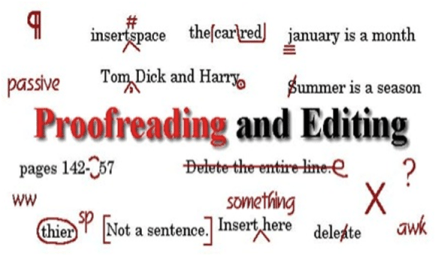 write Proofread and edit