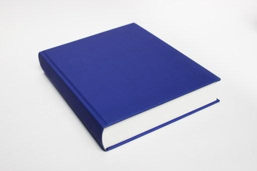 Blue, hardcover book