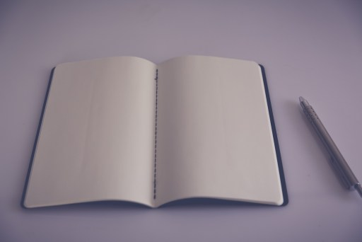 Open notebook, blank page