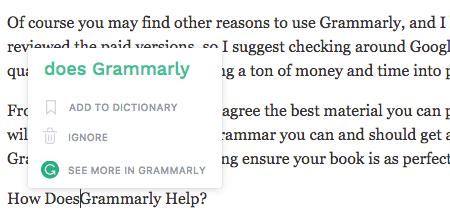 Grammarly, WordPress, Notifications