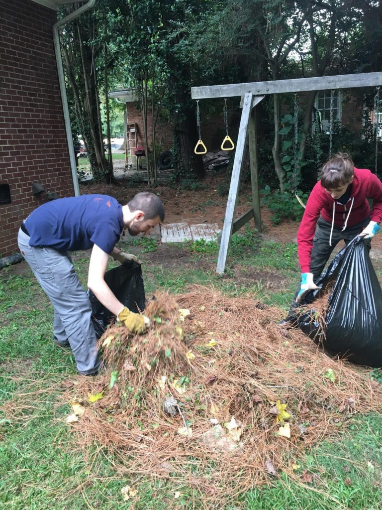 Paul and Sheridan hard at work for the 9/11 day of service