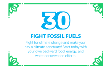 30 Ways in 30 Days #30 - Fight Fossil Fuels