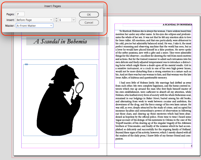 InDesign Insert Front Matter