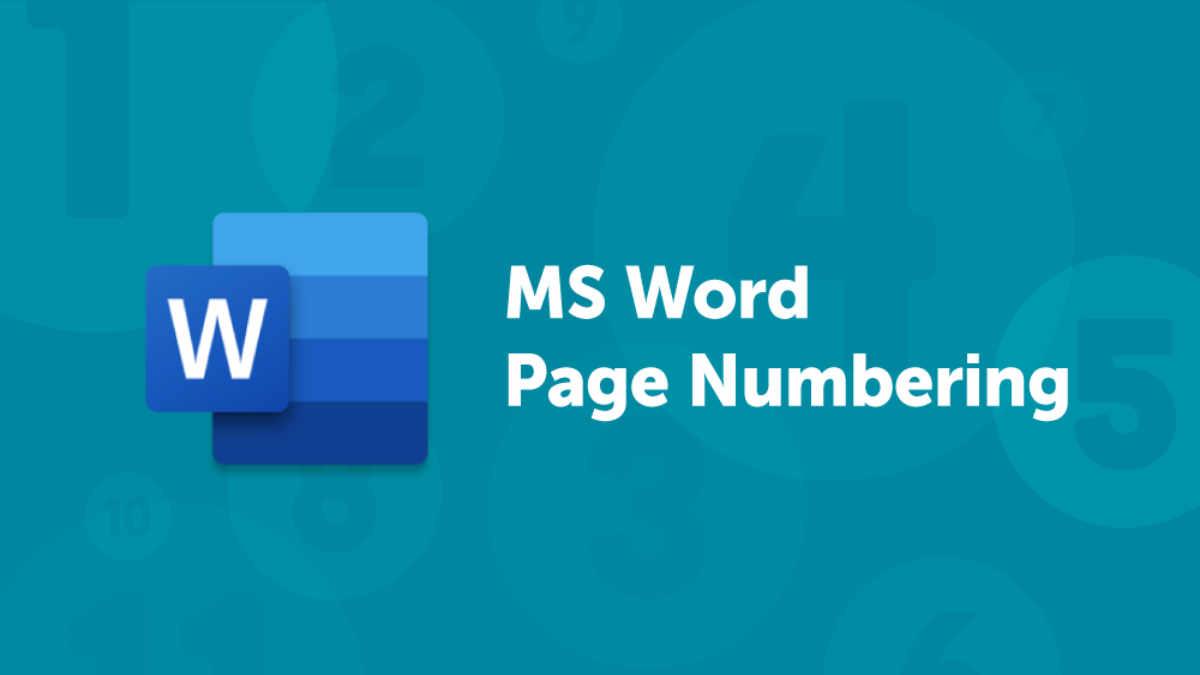 MS Word Page Numbering Blog Header