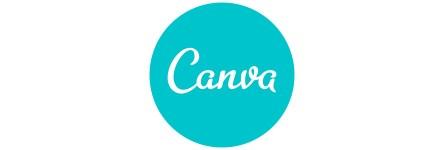 Canva comic book layout logo
