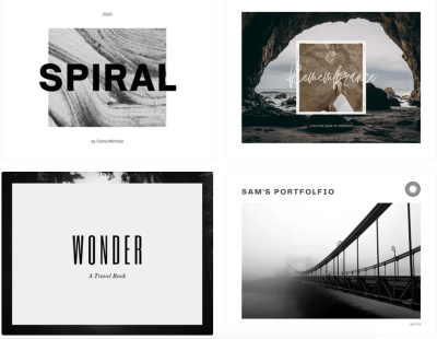 Photo Book templates provided by Canva