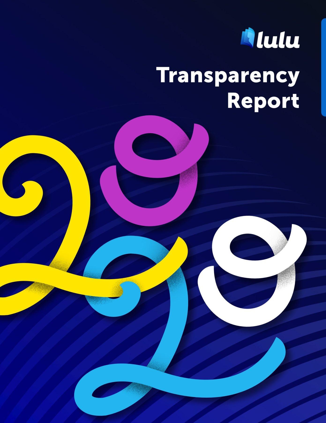 Lulu 2020 transparency report PDF book cover