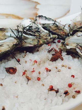 Austern aus Eis