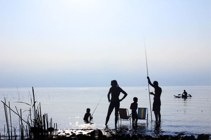 fishing with the family for some vitamin b12-rich foods