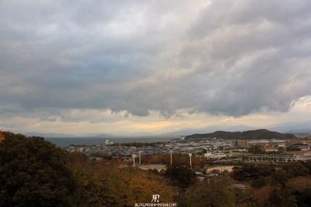 château d'Hikone vue-sur-lac-biwa