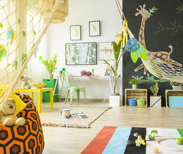 chambre theme jungle