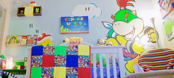 A Tour of Our Completed Nintendo Super Mario-themed Baby Nursery