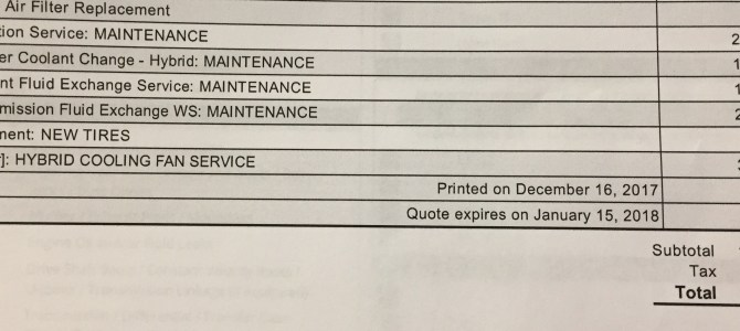 120k Mile Recommended  Services For The 3rd Gen Toyota Prius