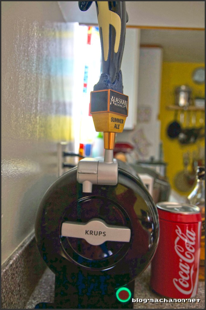 Crappy tap handle orientation.