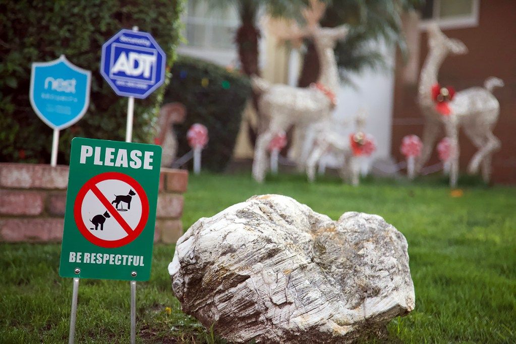 Please be respectful lawn sign.