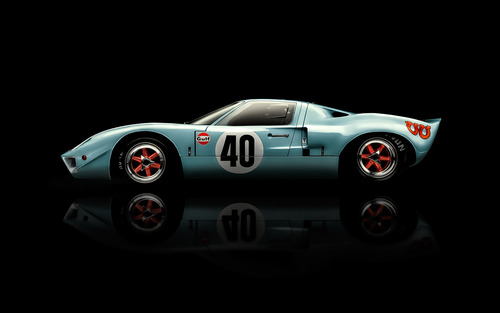 Ford GT40 Gulf Oil race carphotographed by Blair Bunting