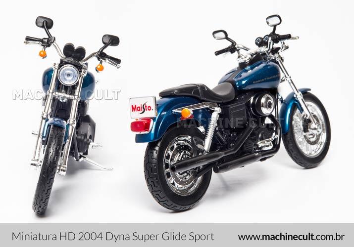 Miniatura Harley-Davidson 2004 Dyna Super Glide Sport