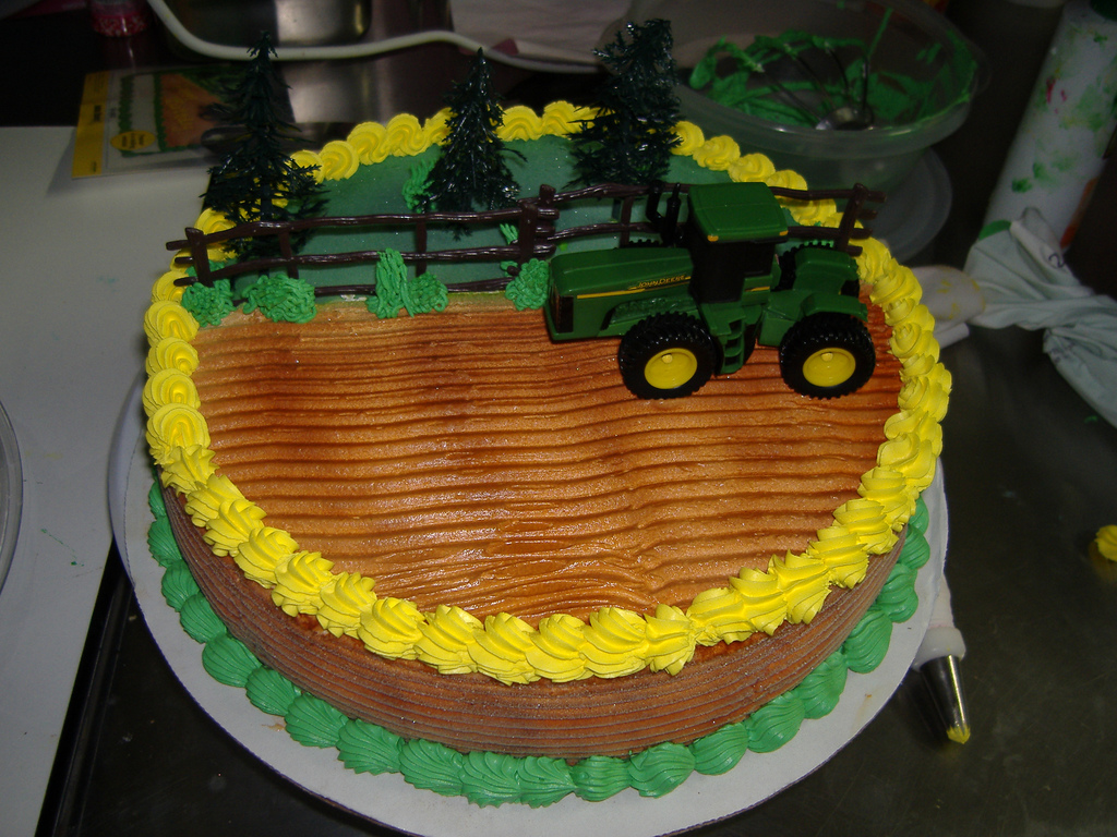 Girls John Deere Cake Ideas