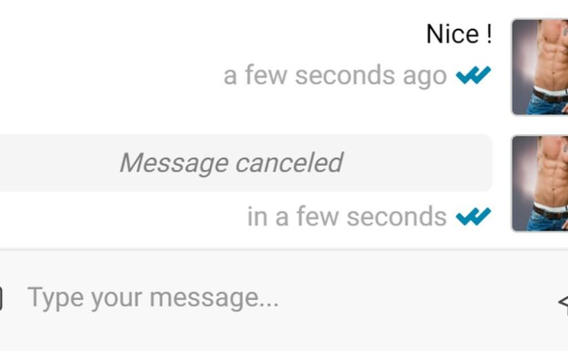 Changed your mind about a message ? Cancel it !