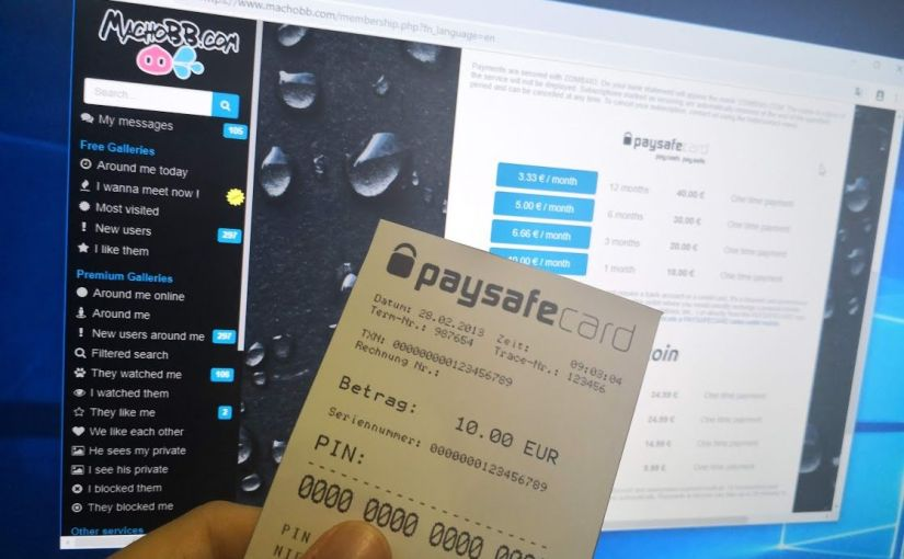 Become Premium without credit card using Paysafecard