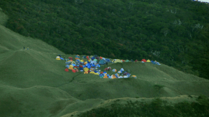 Mt Pulag - campsite from summit