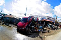 still hanging after a week since Yolanda (Haiyan) typhoon struck Tacloban City
