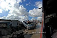 Cars over cars on the road of Tacloban City