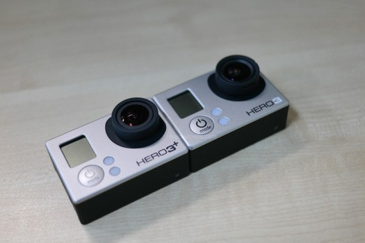 GoPro Hero3+ Black Edition Side-by-side with GoPro Hero3 White Edition