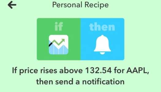 Get a notification when AAPL climbs...