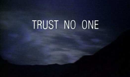 """A title screen from the TV show """"The X-Files"""""""