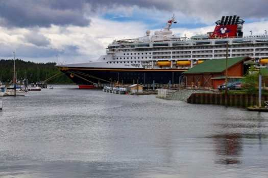 Disney Wonder docked in Ketchikan, Alaska. Photo ©2019, Steven Sande