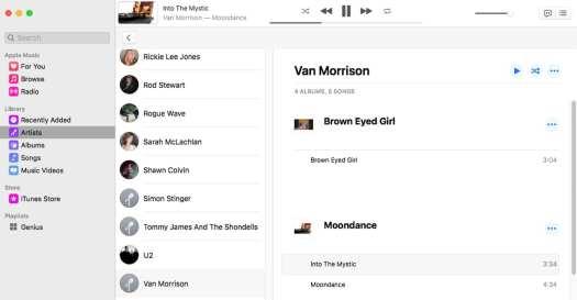 Music app replaces iTunes.