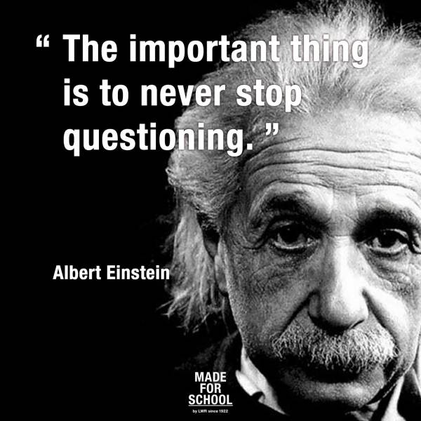 Einstein Quotes About Questions