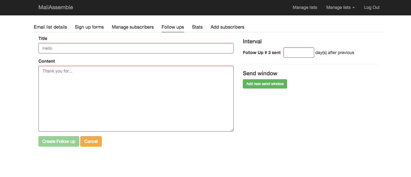 Single Page Application Autoresponder with angular and rails: Follow