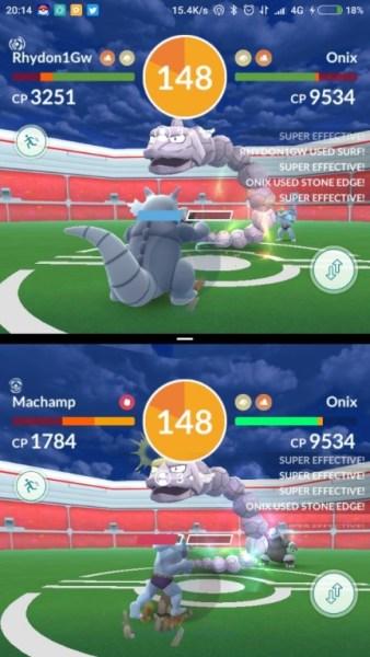raid battle with split screen dual apps