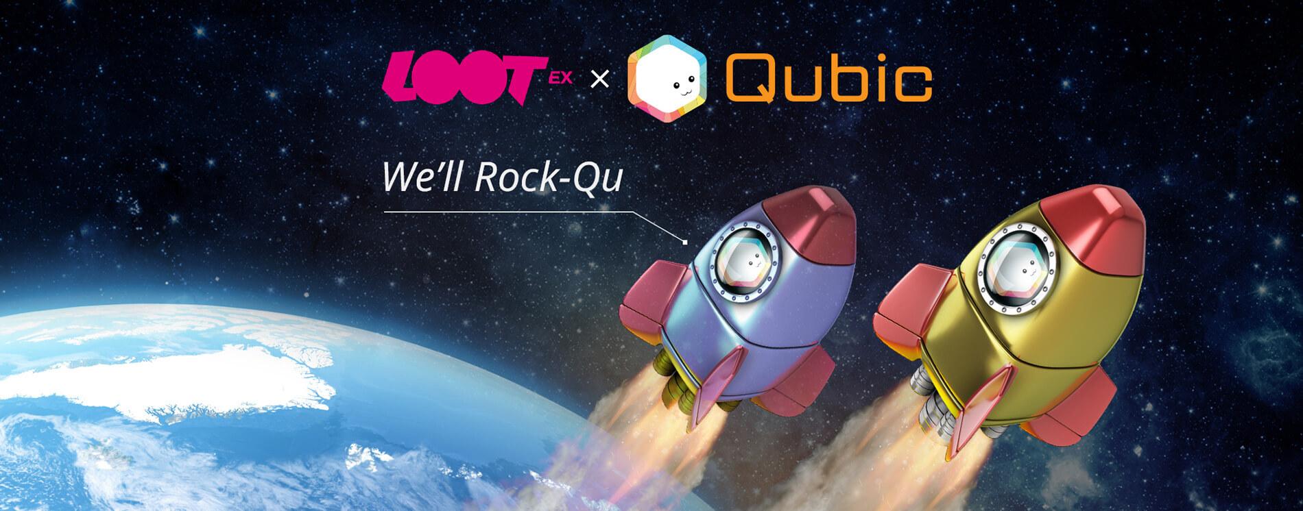 Qubic 上線紀念小火箭